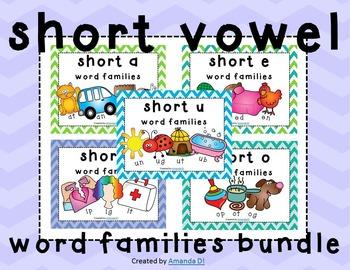 Word Family Activities Short Vowel BUNDLE