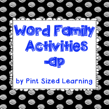 Word Family Activities -ap