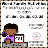 Short A Word Family Activities: at, an, am, ag, ap, ad