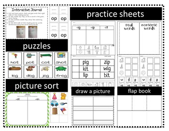 Word Family Activities for Short A