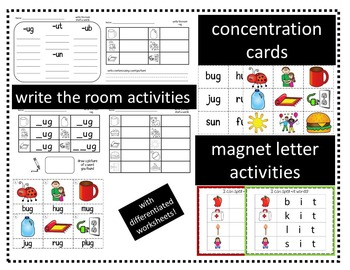 Word Family Activities for Short I