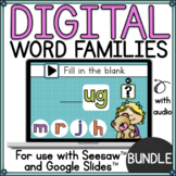 Word Family Activities for use with Seesaw™ and Google Sli