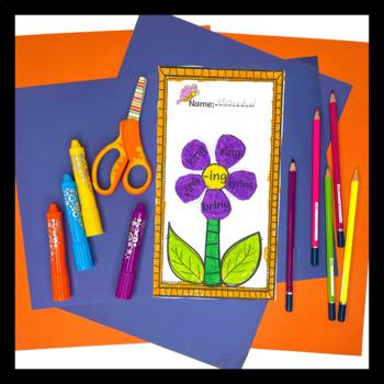 Word Work Activities-Word Families Worksheets Worksheets{Flower}