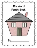 Beginning Of Year First Grade Word Family Coloring Book