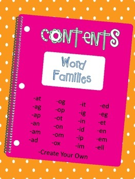 Word Family Activity Cards