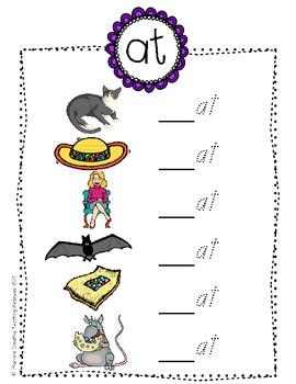 Word Family Activity - Open Egg and Write {at, et, it, ot, ut}