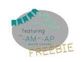 Word Family Activity Pack [Featuring: -am + -ap] FREEBIE