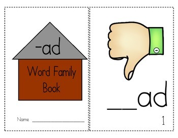 "Word Family Activity Set ""-ad"""
