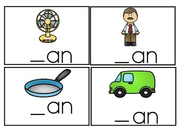 "Word Family Activity Set ""-ag"" & ""-an"""