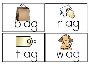 """Word Family Activity Set """"-ag"""" & """"-an"""""""