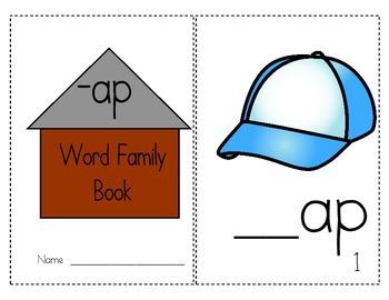 "Word Family Activity Set ""-ap"""