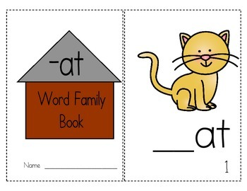 "Word Family Activity Set ""-at"""