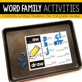 Word Family Activity Packet