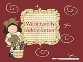 Word Family Add-a-Letter