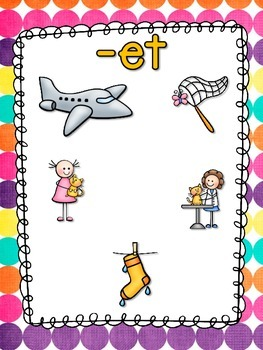 Word Family Anchor Charts and Poster - Short E Vowel Set