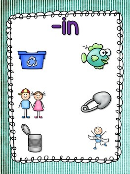 Word Family Anchor Charts and Poster - Short I Vowel Set