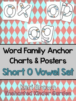 Word Family Anchor Charts and Poster - Short O Vowel Set