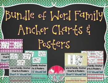 Word Family Anchor Charts and Posters BUNDLE