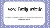 Word Family Animals (onset and rime game)