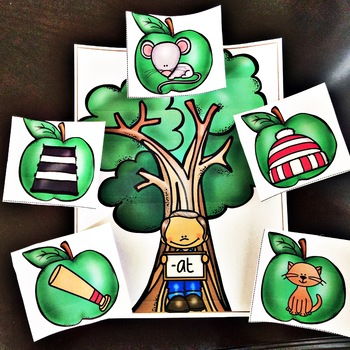 Literacy Center - Apple Tree Word Families