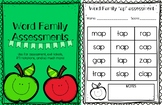 Word Family Assessments