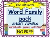 Word Families BUNDLE- Short vowels a, e, i, o, u