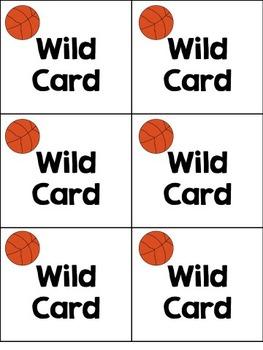 Word Family Basketball Card Game