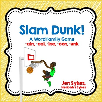 Word Family Basketball Card Game