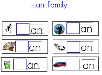 Word Family Beginning Sounds