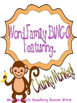 Word Family Bingo Featuring...Chunky Monkey!