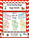 Word Family Bingo Mega Bundle