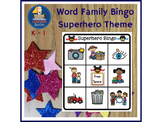 Word Family Bingo, Onset, Rime, Phonics, Literacy Ideas for Kindergarten & First