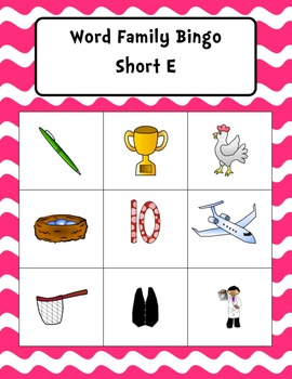 Word Family Bingo Sampler