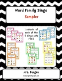 Word Family Bingo Sampler