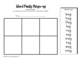 Word Family Bingo Set