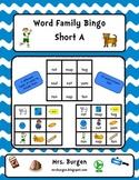 Word Family Bingo Short A