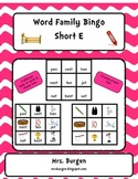 Word Family Bingo Short E