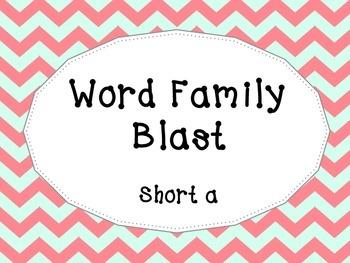 Word Family Blast- Short a