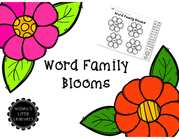Word Family Blooms