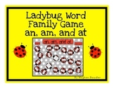 Word Family Board Game (am,an,at)
