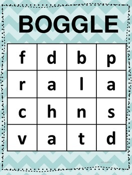 Word Family Boggle Board 6-Pack