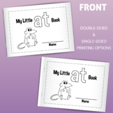 My Little AT Family Book: Printable for Early Readers