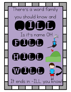 Word Family Book- To go with Dr. Jean's Word Family Song