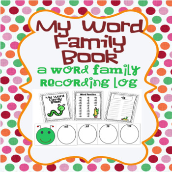 Word Family Book and Classroom Display Level 1