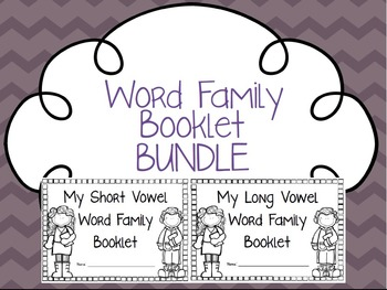 Word Family Booklet Bundle