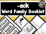 Word Family Booklet -ack