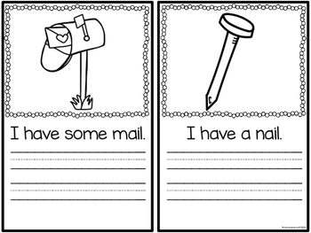 Word Family Booklet -ail