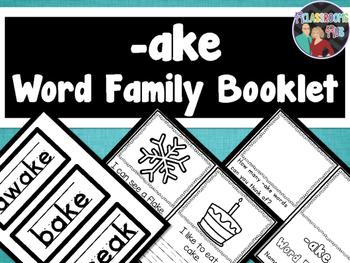 Word Family Booklet -ake