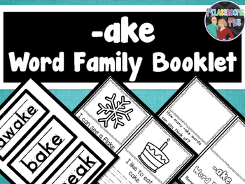 Word Family Booklet -ake