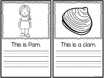 Word Family Booklet -am